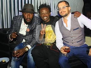 Bahati hangs out with other celebrities in popular night club