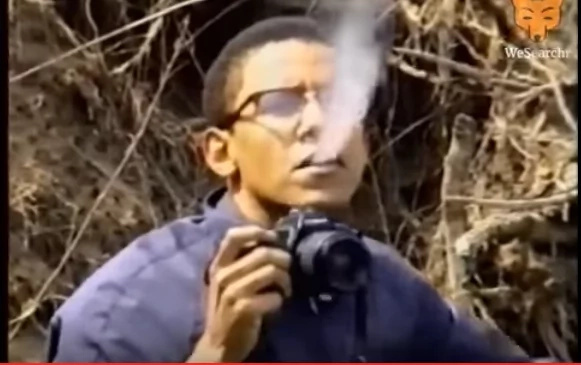 Two never before seen photos of President Obama smoking wildly