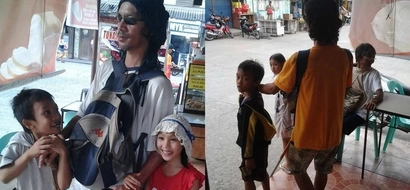 This blind Pinoy father and his two children beg for money after his wife left them