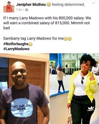 Photos of the hot girl who is desperate to get married to NTV's Larry Madowo