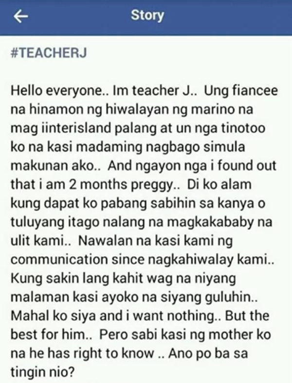 This teacher is 2 months pregnant. What she asked the netizens is unexpected!
