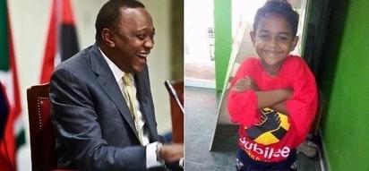 Mombasa boy caught on camera strongly defending Uhuru finally meets him(video/photos)