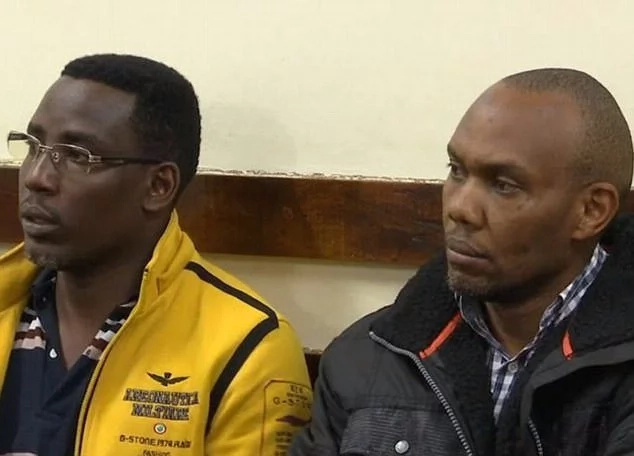 Cyrus Bernard Maina Njuguna (right) and John Njuguna Waithira during their court appearance. Photo: Daily Mail