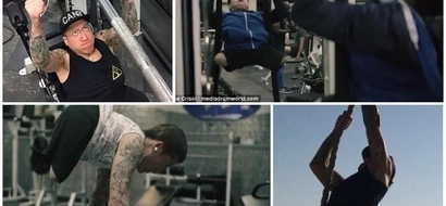 Man, 32, who suffers from spina bifida amputated both his legs and hit the gym to reduce his pain (photos)