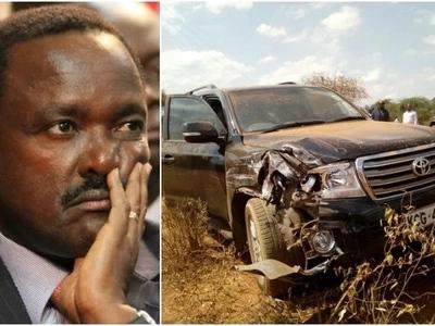 TUKO.co.ke ina habari zote kuhusu kuhusika kwa gari la Kalonzo katika ajali mbaya