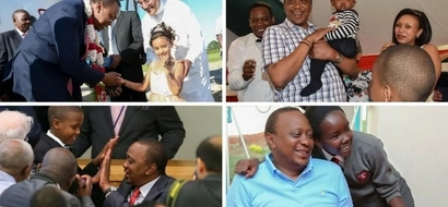 18 adorable photos of President Uhuru Kenyatta bonding with beautiful children