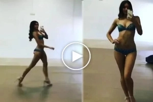 Miss Universe shared her sizzling private video of catwalk preparation