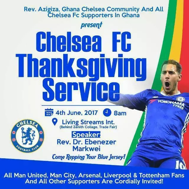 Church susprises everyone by holding service to celebrate Chelsea FC