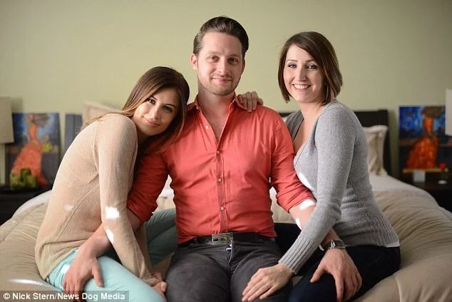 36-year-old man lives with two girlfriends and becomes dad by both women