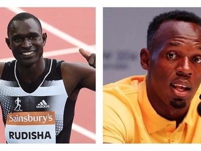Talk about bromance! David Rudisha gets some love from Usain Bolt in Jamaica
