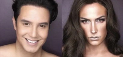 Paolo Ballesteros' #Makeup Transformation pics photoshopped?