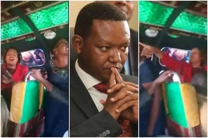 Kalonzo and Mutua supporters clash inside Machakos bus and the outcome is dramatic (video)
