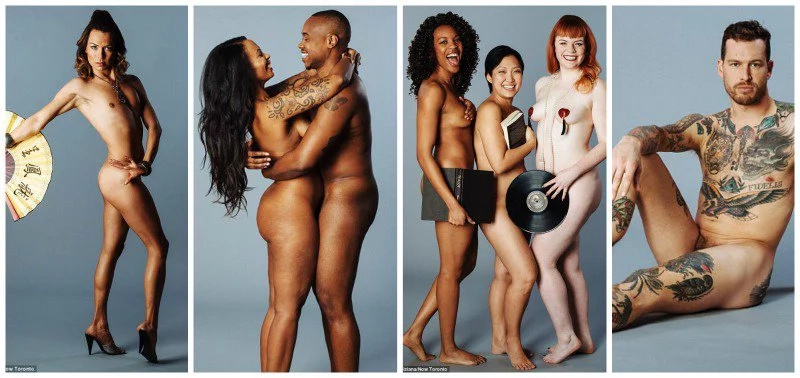 Men And Women Strip Down To Show Beauty Of Body Diversity