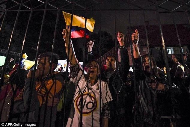 Colombia aterrada tras rechazo del acuerdo histórico de paz