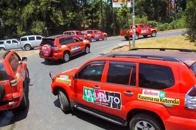 Cars that Uhuru allies will use during Jubilee Party launch