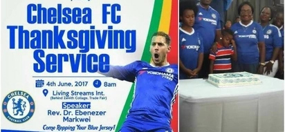 Church holds UNBELIEVABLE ceremony to celebrate Chelsea football club (PHOTOS)