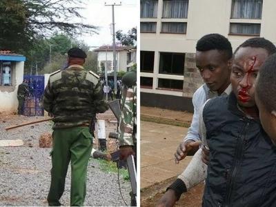 Polisi wakabiliana vikali na wanafunzi wa Mutimedia wanaoandamana (picha)