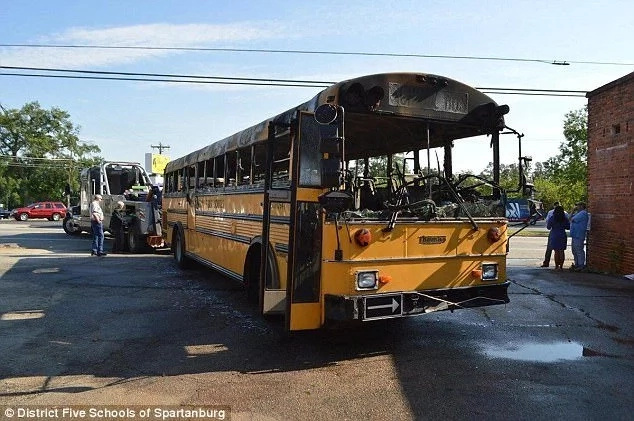 School bus driver evacuates 56 students from bus just before it bursts into flames