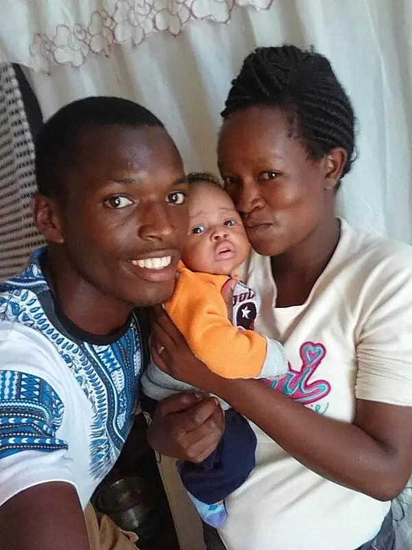 KSh100-wedding couple show off of their handsome baby for the first time (photos)