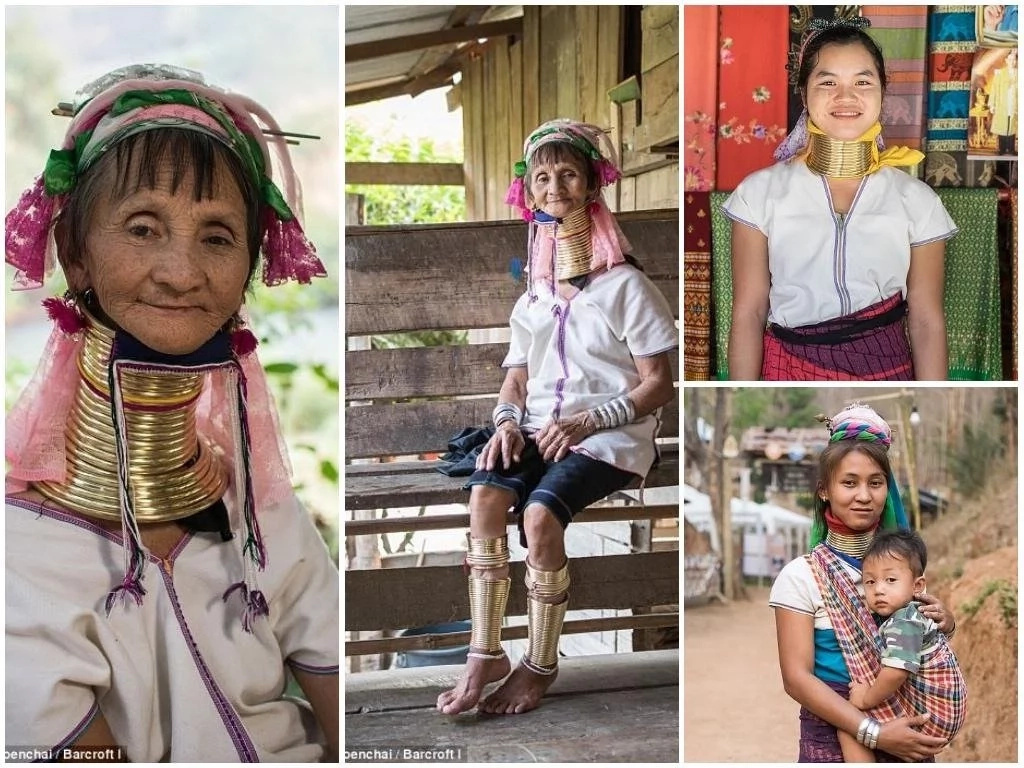 These women wear brass coils to ELONGATE their necks in show of beauty and appreciation of old tradition (photos)