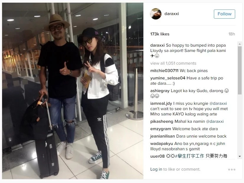 Sandara Park gushes about John Lloyd Cruz
