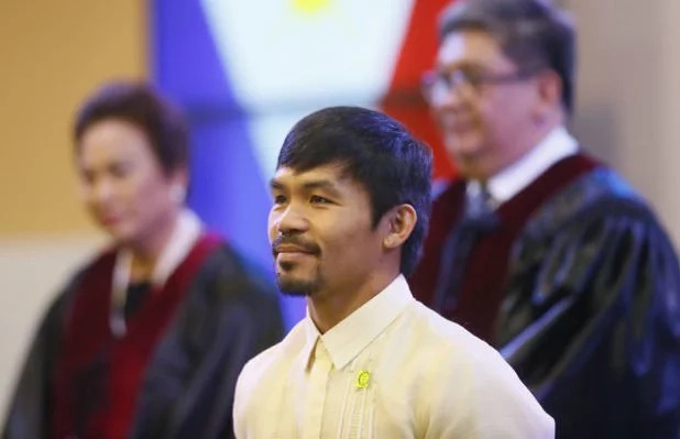 Pacquiao backs death penalty in his 1st privilege speech
