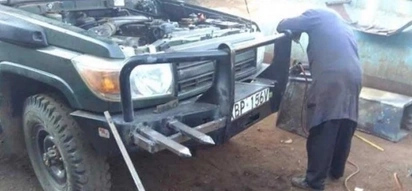 Police spurned into action after Moi era billionaire mounted deadly weapons on his car