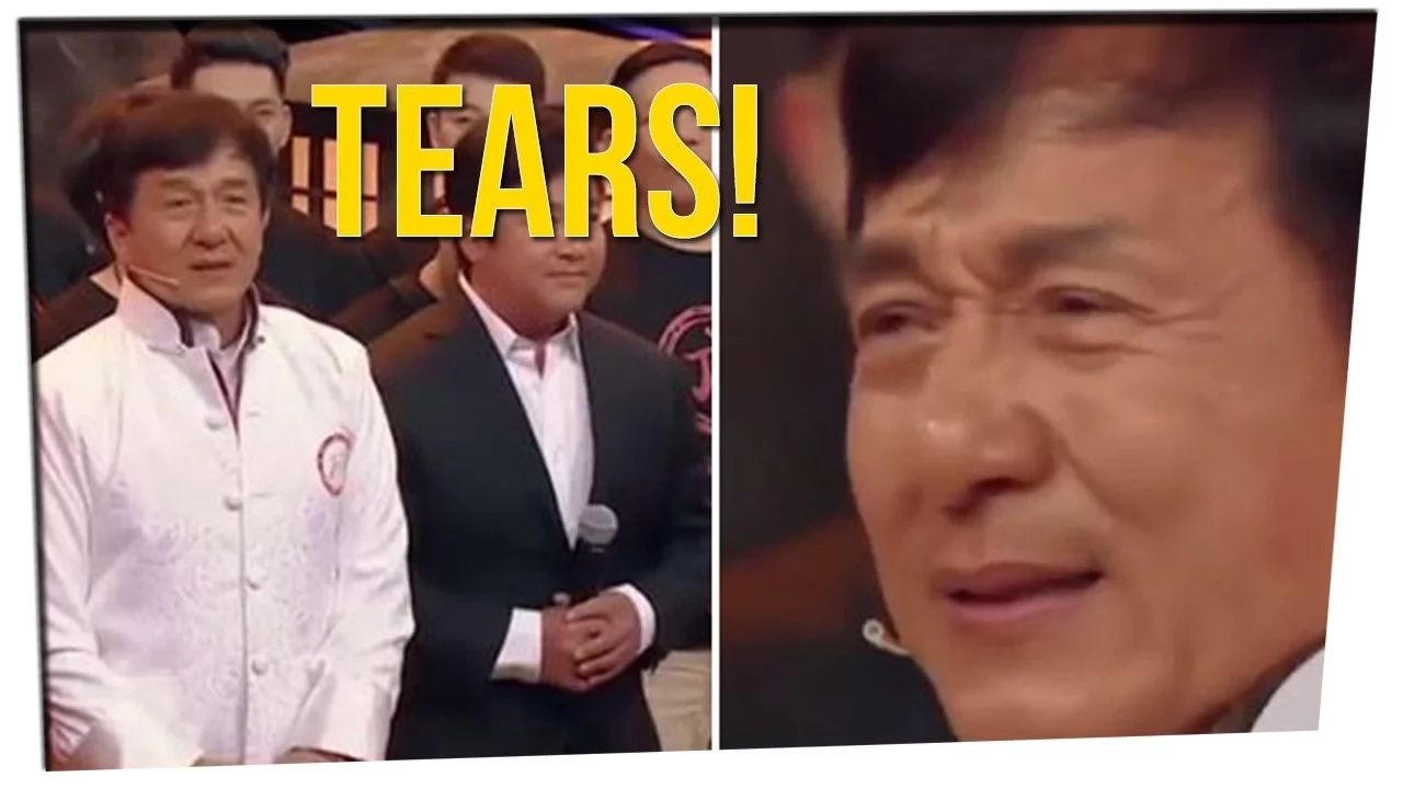Watch Jackie Chan Break Down In Tears After His Stunt Team Pays Tribute To Him