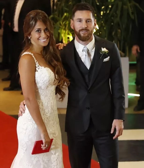 Messi and Antonella got married last month. Photo: EPA