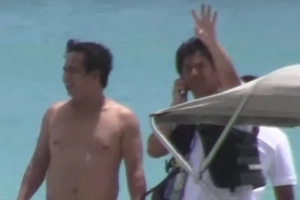 Willie Revillame and his yachts spotted in Boracay Island.