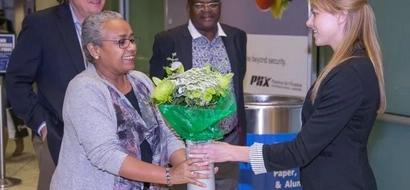 Photos: First Lady Margaret Kenyatta in US to get medical supplies for beyond zero