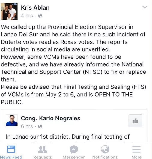 Duterte supporter who claims election fraud, fake voter