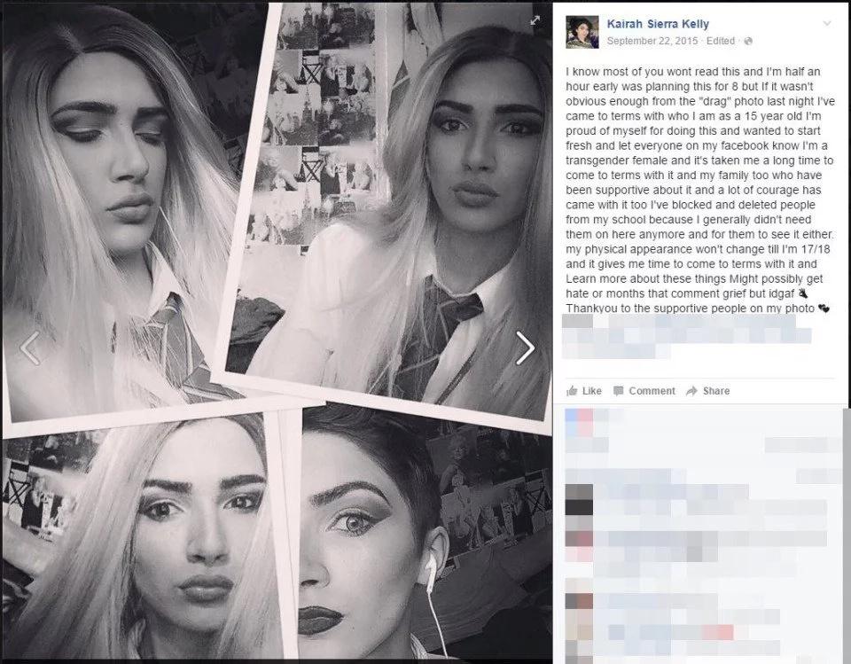 Conoce a la adolescente transgénero que comenzó el nuevo año como un clon de Kim Kardashian