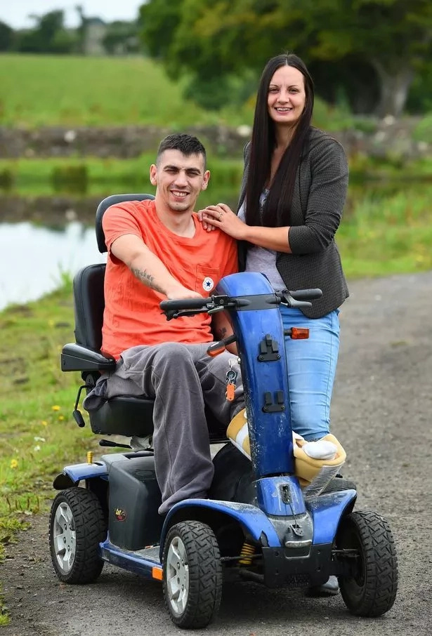 Georgina is inspiring Stuart through an amazing recovery process. Photo: Daily Mirror
