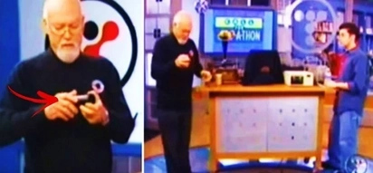 This old man showed off a priceless relic on live TV. But it got completely destroyed while he was holding it!