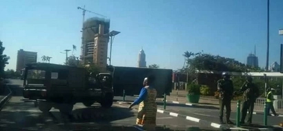 Heavy security around parliament as tension builds (photos)