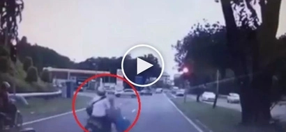 Kawawang dalagita! Reckless Pinoy motorcycle rider beats red light then brutally hits innocent teen girl