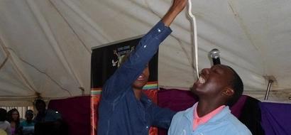 PHOTOS: SA Pastor Tells Congregation To Eat Snakes And Rocks