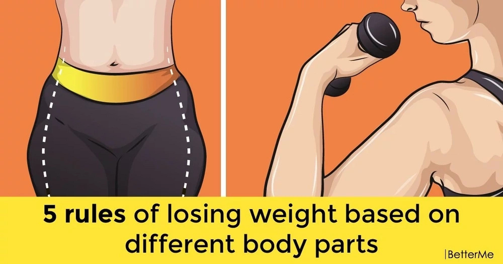 5 rules of losing weight based on different body parts
