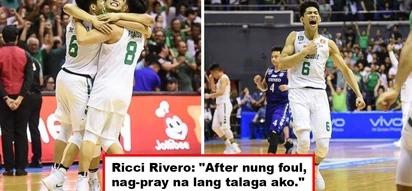 Dasal lang talaga! La Salle's Ricci Rivero prayed hard before sinking those winning free throws against Ateneo