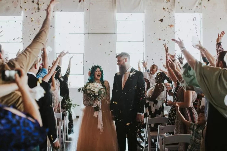 On the day of her wedding she stood up from her wheelchair