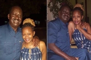 Photos surface of pretty woman holding Raila close in Zanzibar