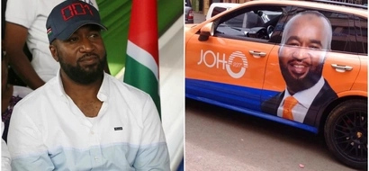 Supporter 'rides' with Hassan Joho after branding expensive car with governor's campaign merchandise