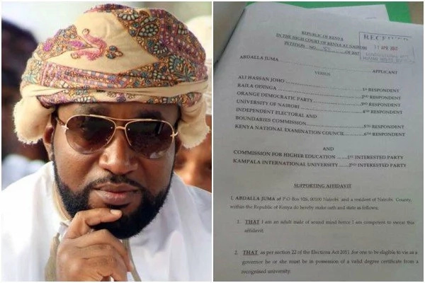 Hassan Joho taken to court AGAIN over his academic records