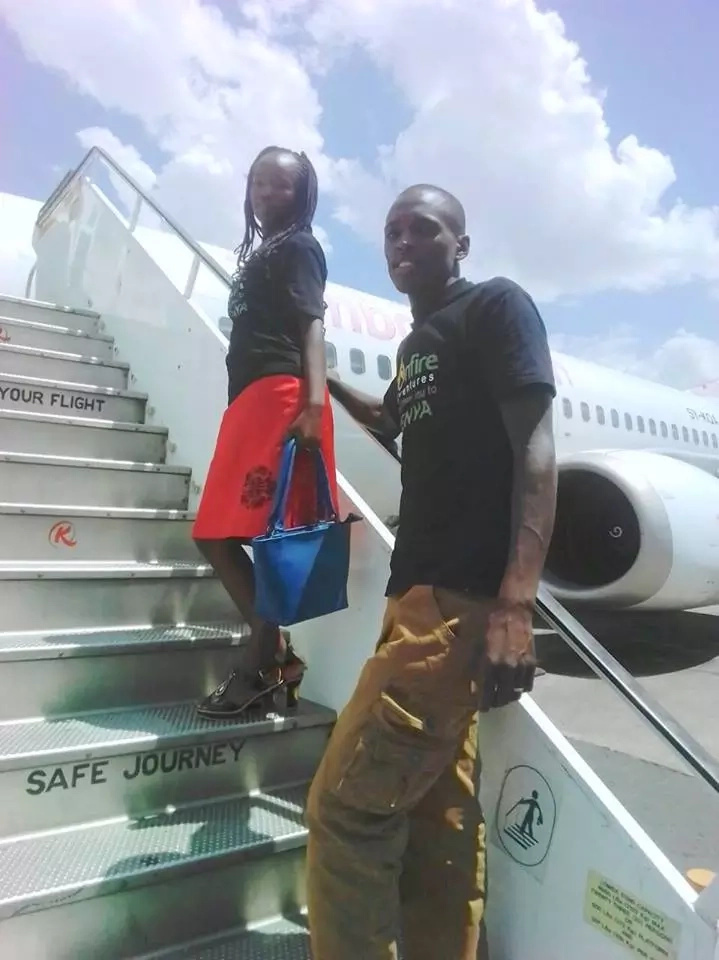 Couple who did KSh 100 wedding flies out for honeymoney