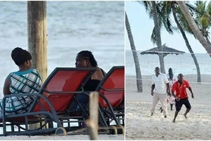 Anger as politicians ignore CRUCIAL MEETING to bask in Mombasa's beach(photos)