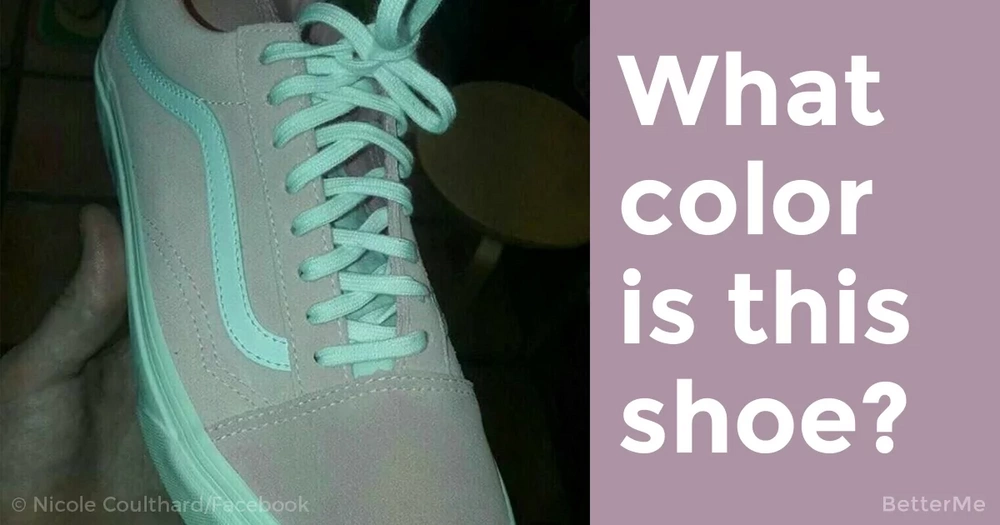 No one knows what color this shoe is