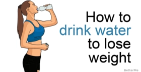 How to advance weight loss naturally and safe with water