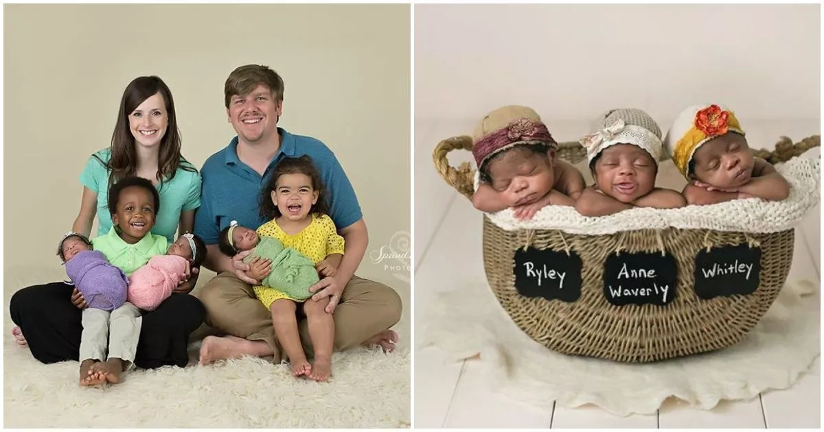 "This missionary couple who ""gave birth"" to African-American triplets melt hearts of millions (photos, video)"