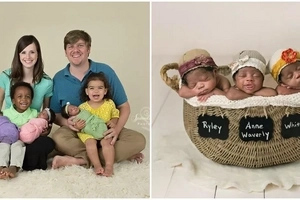 "Meet missionary couple who ""gave birth"" to African-American TRIPLETS winning hearts of millions (photos)"